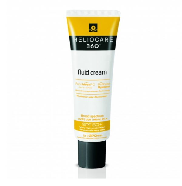 Heliocare 360º Fluid Cream SPF50+ is an excellent formula maximizing the efficient photoimmuneprotection against UVB, UVA, visible and infrared rays.