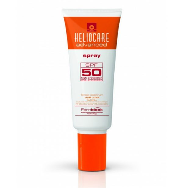 Heliocare Advanced Spray SPF50 is indicated for solar body protection. Contains natural antioxidant properties that prevent premature aging of the skin
