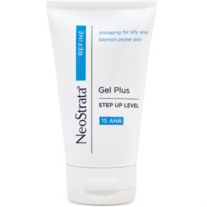 NeoStrata Refine Gel Plus 15 AHA improves skin texture and tone on oily, acne-prone skin. Softens and smoothes dry skin.