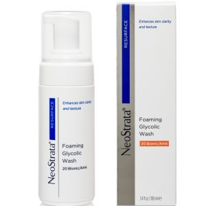 Product photo of Neostrata Resurface Foaming Glycolic WashM 20 Bionic AHA an active cleaning foam that enhances regenerative activity of NeoStrata products.