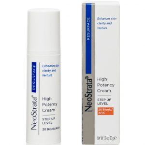 Neostrata Resurface High Potency Cream Step Up Level 20 Bionic AHA has been formulated to reduce the appearance of fine lines, wrinkles and uneven skin tone