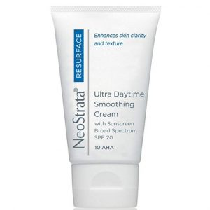 Produvt photo of Neostrata Resurface Ultra Daytime Smoothing Cream SPF20 an ideal daytime exfoliating moisturizer that helps to diminish the appearance of fine lines and wrinkles.