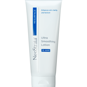 Neostrata Resurface Ultra Smoothing Lotion 10 AHA is a lightweight, potent exfoliating lotion that promotes skin rejuvenation.