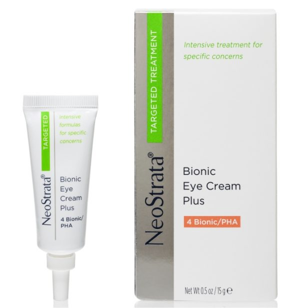 Neostrata Targeted Treatment Bionic Eye Cream Plus 4 Bionic PHA strengthens the delicate eye area to help hide dark under-eye circles and diminish them at their source.