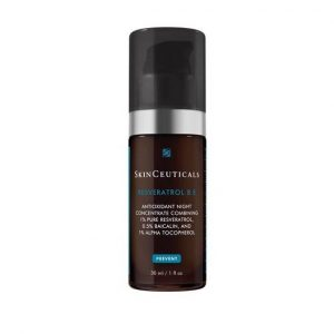SkinCeuticals RESVERATROL B E diminishes visible signs of aging, improves the appearance of skin radiance, firmness, and density.