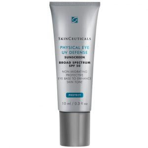 Skin Ceuticals Physical Matte UV Defence Sunscreen SPF50 30ml is a 100% mineral, tone-enhancing tinted sunscreen formulated for the delicate eye area.