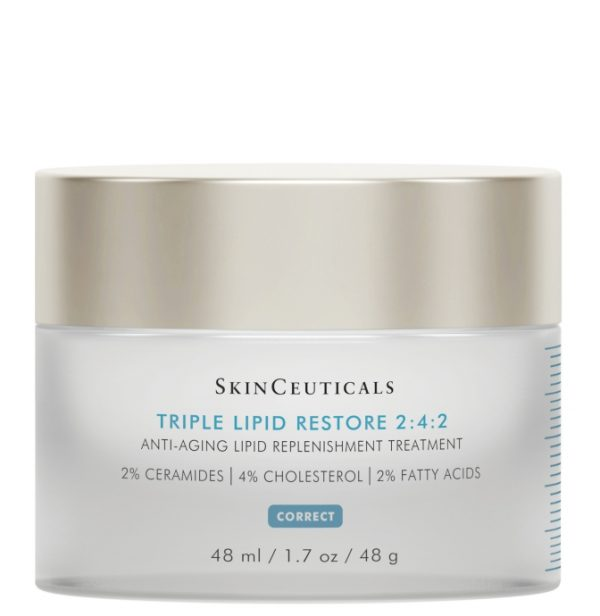 SkinCeuticals triple lipid restore 2:4:2 is an anti aging treatment cream to refill cellular lipids and nourish dry skin.
