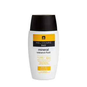 HELIOCARE 360º Mineral tolerance fluid is a 100% mineral-filter formulation specifically designed for sensitive and intolerant skin.
