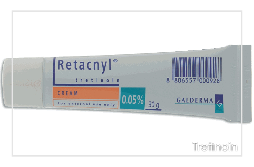 Tretinoin is topical retinoic acid and only available as a prescription.